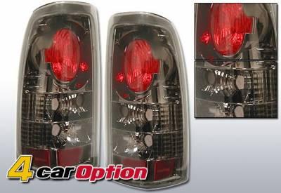 Headlights & Tail Lights - Tail Lights - 4 Car Option - Chevrolet Silverado 4 Car Option Altezza Taillights - Gunmetal - LT-GSV99G-YD