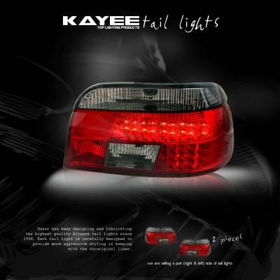 Headlights & Tail Lights - Led Tail Lights - Custom - JDM LED Smoked LED Tail Lights