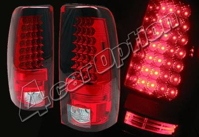 Headlights & Tail Lights - Led Tail Lights - 4 Car Option - Chevrolet Silverado 4 Car Option LED Taillights - Red - LT-GSV99LEDR