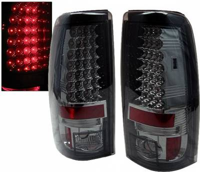 Headlights & Tail Lights - Led Tail Lights - 4 Car Option - Chevrolet Silverado 4 Car Option LED Taillights - Smoke - LT-GSV99LEDSM