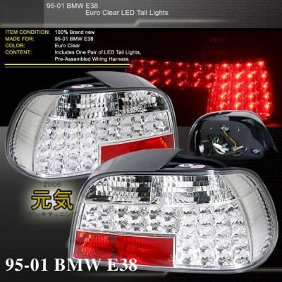 Headlights & Tail Lights - Led Tail Lights - Custom - E38 LED Euro Tail Lights