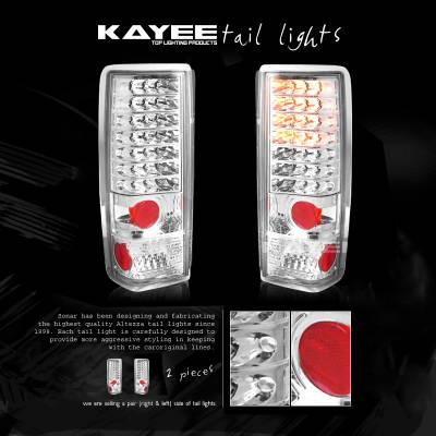 Headlights & Tail Lights - LED Tail Lights - Custom - Chrome LED Tail Lights