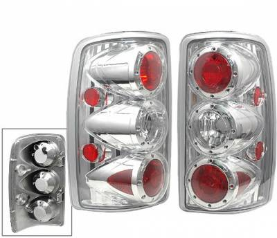 Headlights & Tail Lights - Tail Lights - 4 Car Option - GMC Denali 4 Car Option Taillights - Chrome - LT-GYD00C-6