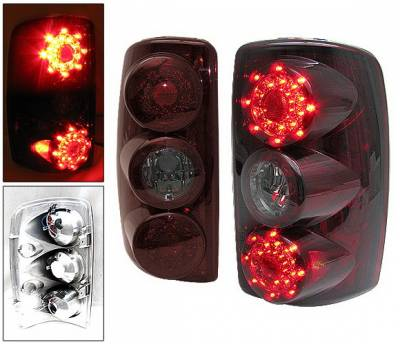 Headlights & Tail Lights - Led Tail Lights - 4 Car Option - Chevrolet Tahoe 4 Car Option LED Taillights - Black - LT-GYD00LEDJB-6