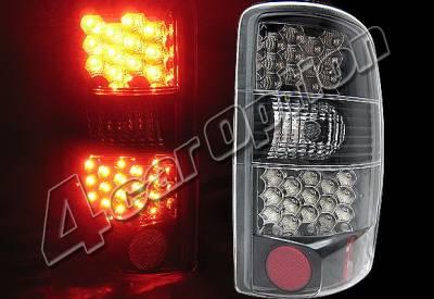 Headlights & Tail Lights - Led Tail Lights - 4 Car Option - GMC Yukon 4 Car Option LED Taillights - Black - LT-GYD00LEDJB-KS