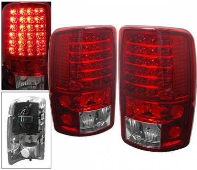 Headlights & Tail Lights - Led Tail Lights - 4 Car Option - Chevrolet Tahoe 4 Car Option LED Taillights - Red & Clear - LT-GYD00LEDRC-6