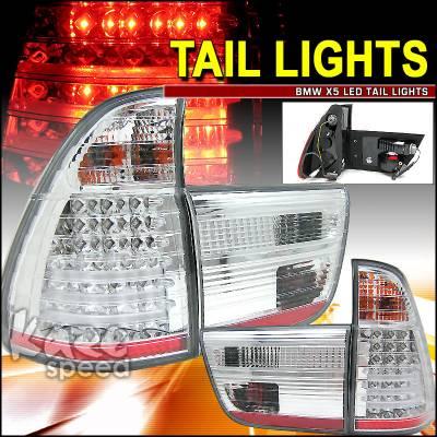 Headlights & Tail Lights - Led Tail Lights - Custom - X5 Clear LED Tail Lights
