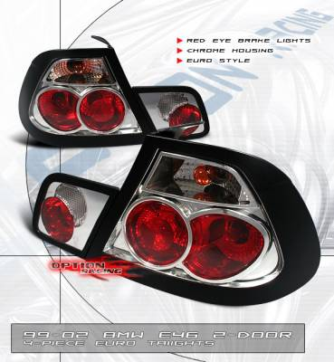 Headlights & Tail Lights - Tail Lights - Custom - Red Eye Chrome Altezza Tail Lights