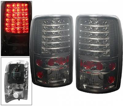 Headlights & Tail Lights - Led Tail Lights - 4 Car Option - GMC Yukon 4 Car Option LED Taillights - Smoke - LT-GYD00LEDSM-6