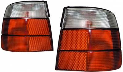 Headlights & Tail Lights - Tail Lights - Custom - E34 Red Clear Tail Lights