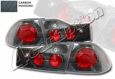 Headlights & Tail Lights - Tail Lights - 4 Car Option - Honda Accord 4DR 4 Car Option Altezza Taillights - Carbon Fiber Style - LT-HA014F-YD
