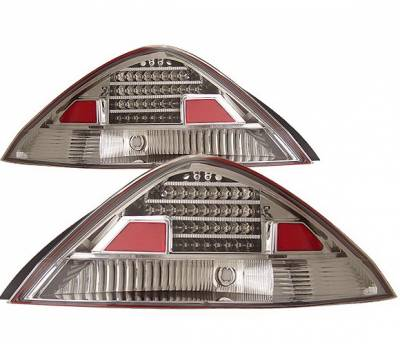 Headlights & Tail Lights - Led Tail Lights - 4 Car Option - Honda Accord 2DR 4 Car Option LED Taillights - Chrome - LT-HA032LEDC-KS