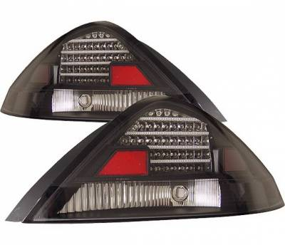 Headlights & Tail Lights - Led Tail Lights - 4 Car Option - Honda Accord 2DR 4 Car Option LED Taillights - Black - LT-HA032LEDJB-KS