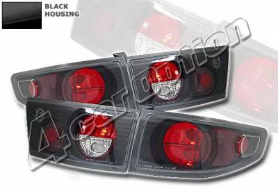 Headlights & Tail Lights - Tail Lights - 4 Car Option - Honda Accord 4DR 4 Car Option Altezza Taillights - Black - LT-HA034JB-KS