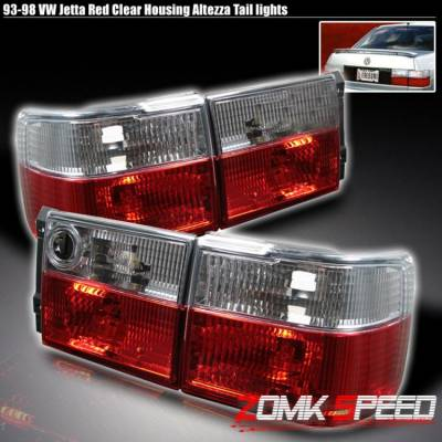 Headlights & Tail Lights - Tail Lights - Custom - Jetta Red Clear Altezza Tail Lights
