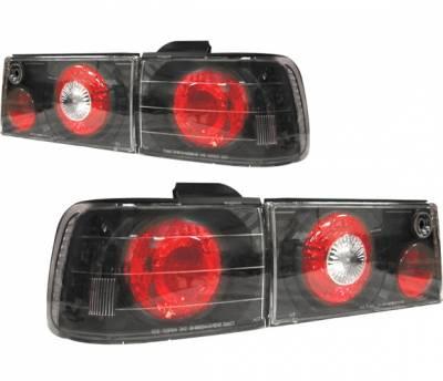 Headlights & Tail Lights - Tail Lights - 4 Car Option - Honda Accord 4 Car Option Altezza Taillights - Black - LT-HA90JB-YD