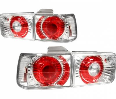 Headlights & Tail Lights - Tail Lights - 4 Car Option - Honda Accord 4 Car Option Altezza Taillights - V2 - Chrome - LT-HA92A2-YD