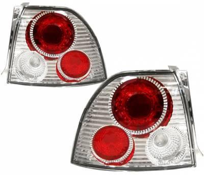 Headlights & Tail Lights - Tail Lights - 4 Car Option - Honda Accord 4 Car Option Altezza Taillights - V3 - Chrome - LT-HA94R2-YD