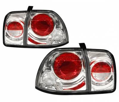 Headlights & Tail Lights - Tail Lights - 4 Car Option - Honda Accord 4 Car Option Altezza Taillights - Chrome - LT-HA96A3-YD