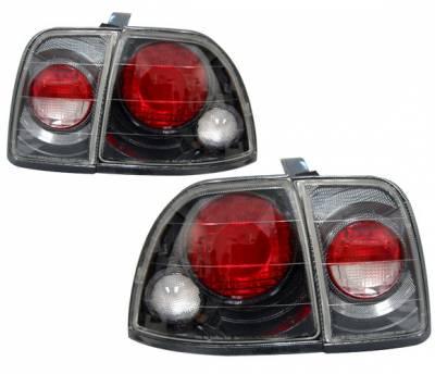 Headlights & Tail Lights - Tail Lights - 4 Car Option - Honda Accord 4 Car Option Altezza Taillights - Carbon Fiber Style - LT-HA96F-YD
