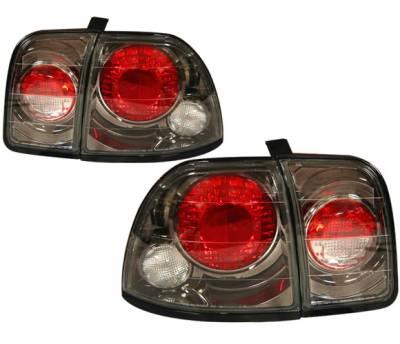 Headlights & Tail Lights - Tail Lights - 4 Car Option - Honda Accord 4 Car Option Altezza Taillights - Gunmetal - LT-HA96G3-YD