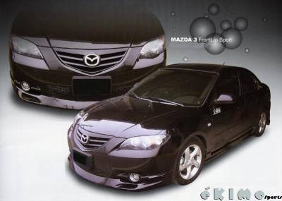 3 4Dr - Front Bumper - Custom - Mazda 3 S Model Lip