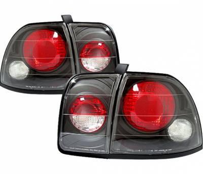 Headlights & Tail Lights - Tail Lights - 4 Car Option - Honda Accord 4 Car Option Altezza Taillights - Black - LT-HA96JB-YD