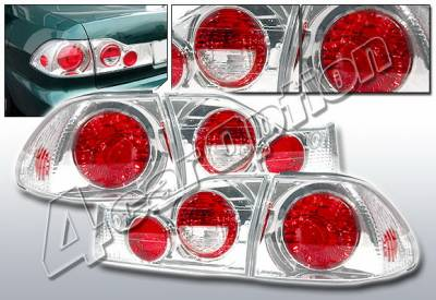 Headlights & Tail Lights - Tail Lights - 4 Car Option - Honda Accord 4DR 4 Car Option Altezza Taillights - V2 - Chrome - LT-HA984A2-KS