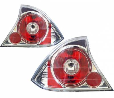 Headlights & Tail Lights - Tail Lights - 4 Car Option - Honda Civic 2DR 4 Car Option Altezza Taillights - Chrome - LT-HC012A-YD