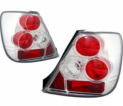 Headlights & Tail Lights - Tail Lights - 4 Car Option - Honda Civic HB 4 Car Option Altezza Taillights - Chrome - LT-HC03A-YD