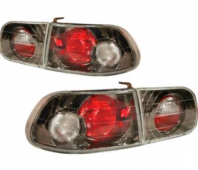 Headlights & Tail Lights - Tail Lights - 4 Car Option - Honda Civic HB 4 Car Option Altezza Taillights - Gunmetal - LT-HC923G-YD
