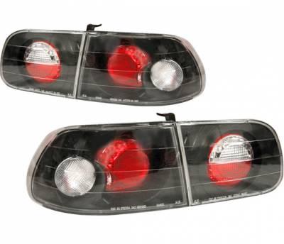 Headlights & Tail Lights - Tail Lights - 4 Car Option - Honda Civic HB 4 Car Option Altezza Taillights - Black - LT-HC923JB-YD
