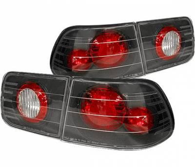 Headlights & Tail Lights - Tail Lights - 4 Car Option - Honda Civic 2DR 4 Car Option Altezza Taillights - Black - LT-HC962JB-YD