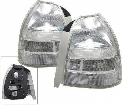 Headlights & Tail Lights - Led Tail Lights - 4CarOption - Honda Civic HB 4CarOption Taillights - LT-HC963C-YD