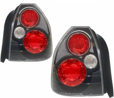 Headlights & Tail Lights - Tail Lights - 4 Car Option - Honda Civic HB 4 Car Option Altezza Taillights - Black - LT-HC963JB-3