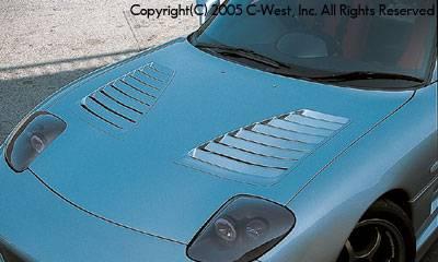 RX7 - Hoods - C-West - Super Aero Bonnet With Louver
