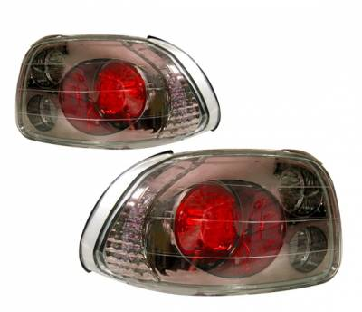 Headlights & Tail Lights - Tail Lights - 4 Car Option - Honda Del Sol 4 Car Option Altezza Taillights - Gunmetal - LT-HD93G-YD
