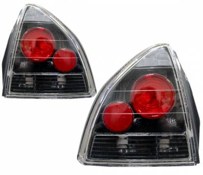 Headlights & Tail Lights - Tail Lights - 4 Car Option - Honda Prelude 4 Car Option Altezza Taillights - Carbon Fiber Style - LT-HP92F-YD