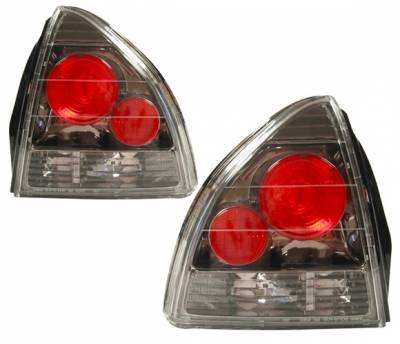 Headlights & Tail Lights - Tail Lights - 4 Car Option - Honda Prelude 4 Car Option Altezza Taillights - Gunmetal - LT-HP92G-YD