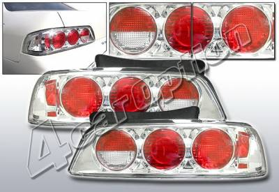 Headlights & Tail Lights - Tail Lights - 4 Car Option - Honda Prelude 4 Car Option Altezza Taillights - V2 - Chrome - LT-HP97A2-KS