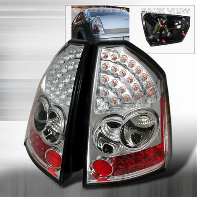 Headlights & Tail Lights - Led Tail Lights - Custom Disco - Chrysler 300 Custom Disco Chrome LED Taillights - LT-300C05CLED