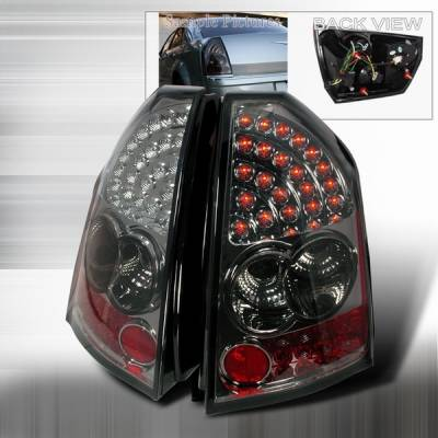 Headlights & Tail Lights - Led Tail Lights - Custom Disco - Chrysler 300 Custom Disco Smoke LED Taillights - LT-300C05GLED