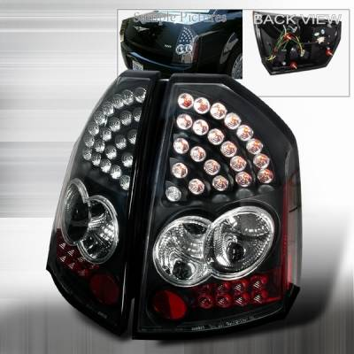 Headlights & Tail Lights - Led Tail Lights - Custom Disco - Chrysler 300 Custom Disco Black LED Taillights - LT-300C05JMLED