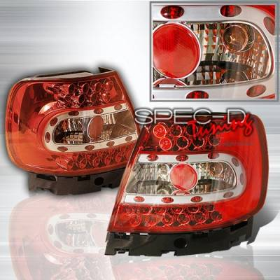 Headlights & Tail Lights - LED Tail Lights - Custom Disco - Audi A4 Custom Disco Red & Clear Euro LED Taillights - LT-A496RLED