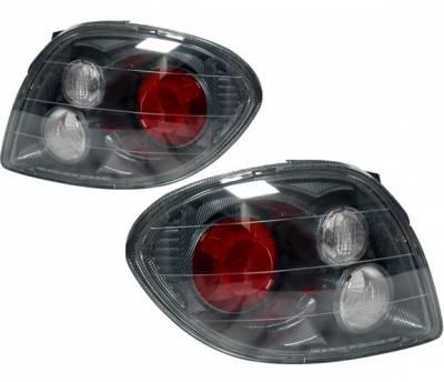 Headlights & Tail Lights - Tail Lights - 4 Car Option - Hyundai Tiburon 4 Car Option Altezza Taillights - Carbon Fiber Style - LT-HYTI00F-YD