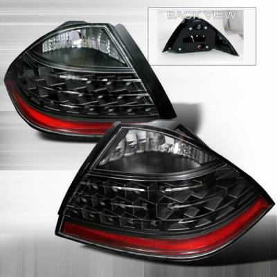Headlights & Tail Lights - Led Tail Lights - Custom Disco - Honda Accord 4DR Custom Disco Black LED Taillights - LT-ACD064JMLED-DP