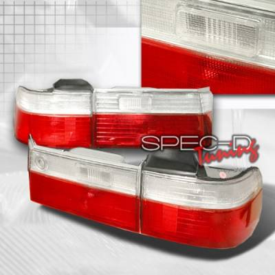 Headlights & Tail Lights - Tail Lights - Custom Disco - Honda Accord 4DR Custom Disco Red & Clear Taillights - LT-ACD904RPW