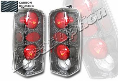 Headlights & Tail Lights - Tail Lights - 4 Car Option - Jeep Cherokee 4 Car Option Altezza Taillights - Carbon Fiber Style - LT-JCK97F-KS