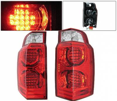 Headlights & Tail Lights - Led Tail Lights - 4 Car Option - Jeep Commander 4 Car Option LED Taillights - Red & Clear - LT-JCM06LEDRC-KS