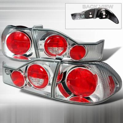 Headlights & Tail Lights - Tail Lights - Custom Disco - Honda Accord 4DR Custom Disco Chrome Taillights - LT-ACD984-YD